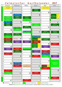 Dorfkalender 2017 - Jan. - Juni