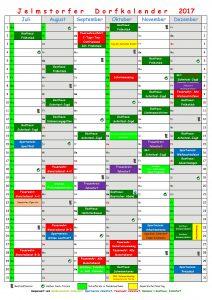 Dorfkalender 2017 - Juli - Dez.