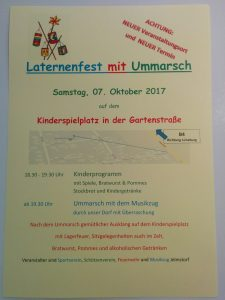 Laternenfest 2017 in Jelmstorf