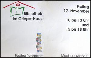 Bücherflohmarkt 17.Nov.2017