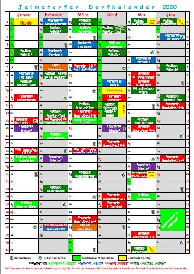 Dorfkalender 2019 - Jan. - Juni