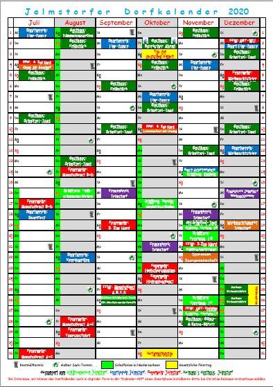 Dorfkalender 2019 - Juli - Dez.